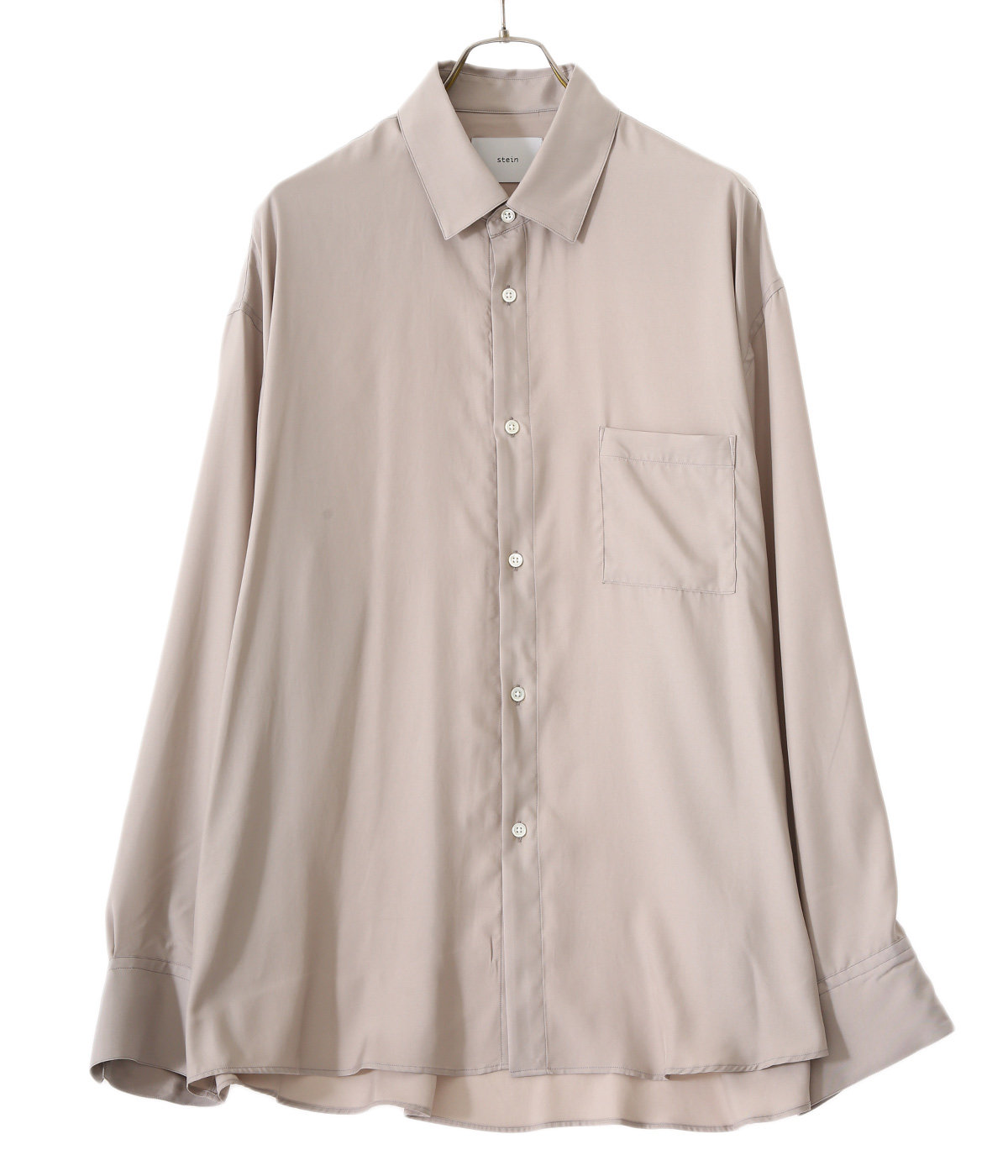 OVERSIZED DOWN PAT CUPRO SHIRT