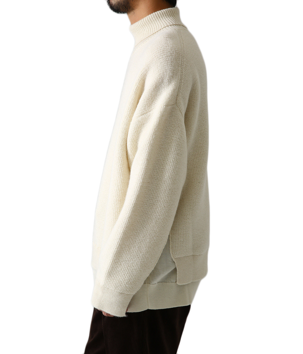 CONNECTING HIGHT NECK KNIT LS
