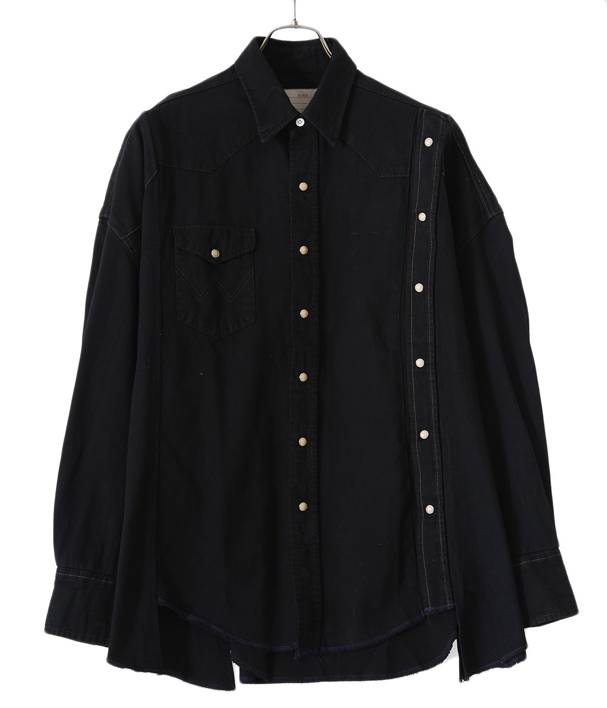 【ONLY ARK】別注 circa make double placket wide denim western shirt