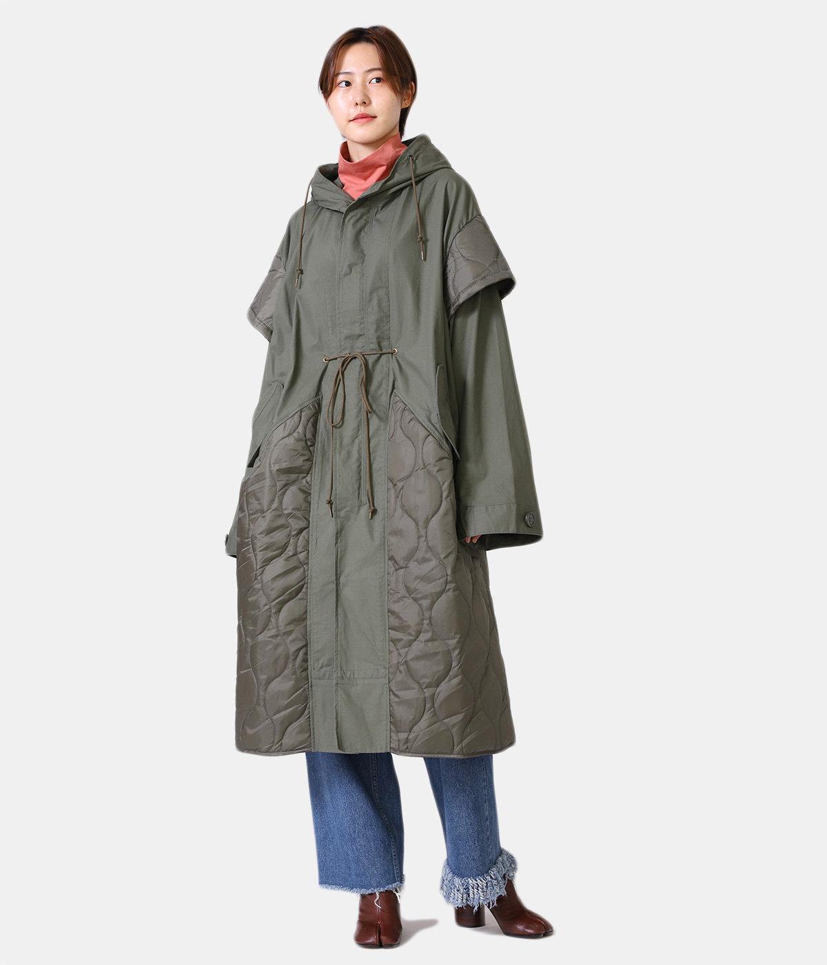 【レディース】circa make cutback military coat