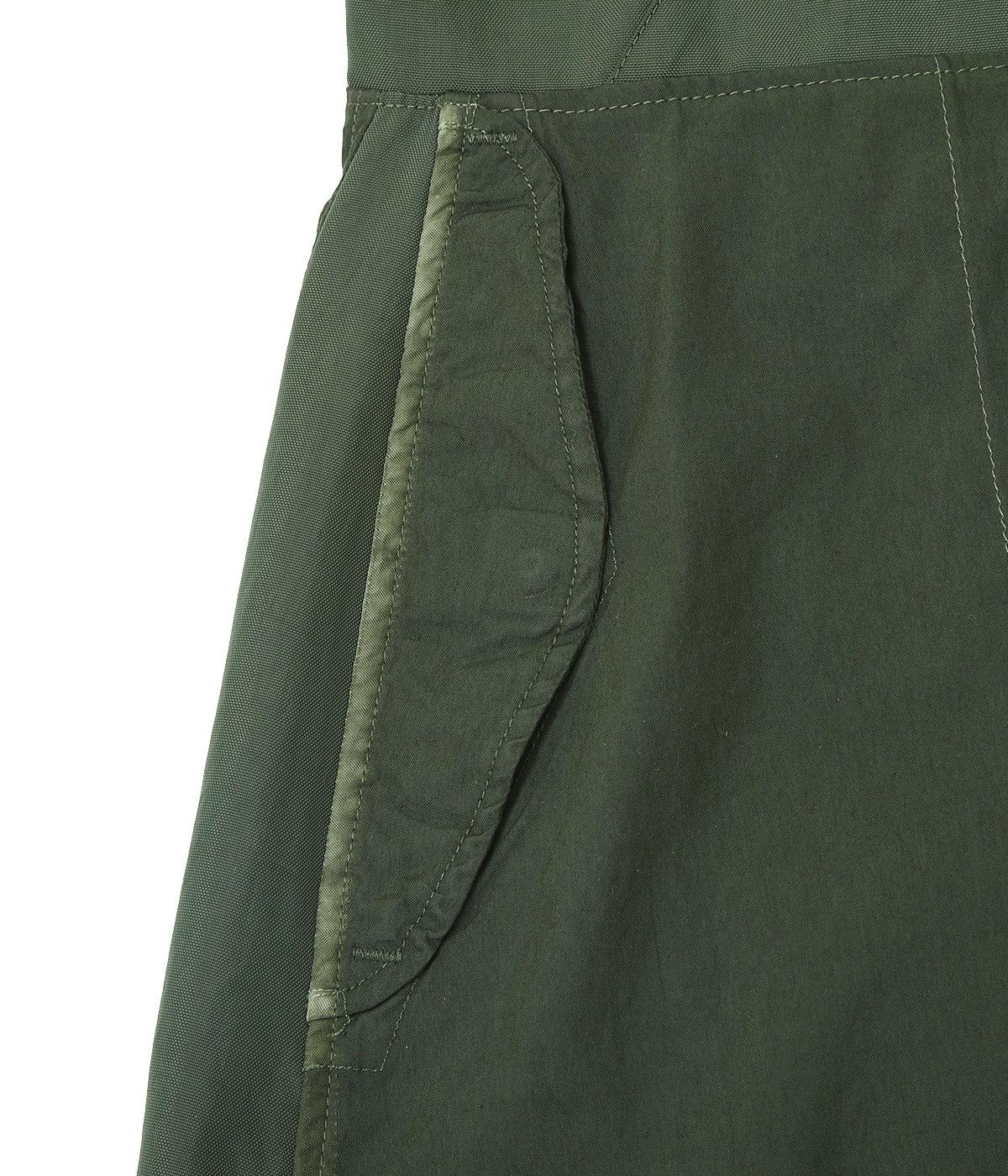 【レディース】circa make wide snowcamouflage skirt w/shoulder strap