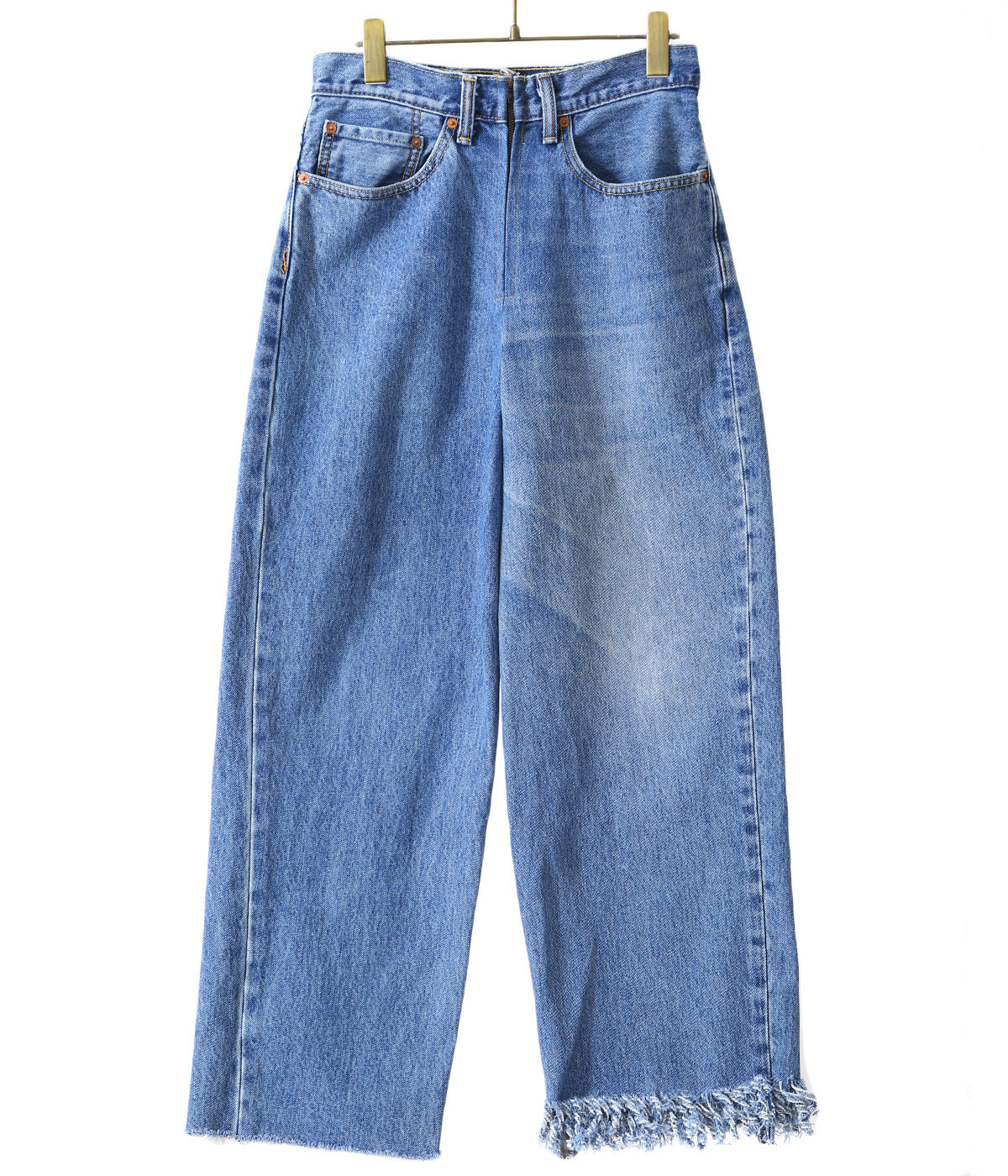 【レディース】circa make fringe denim pants[span100]