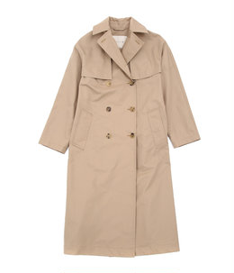 【レディース】DROP-SHOULDER LONG TRENCH COAT-BEIGE-