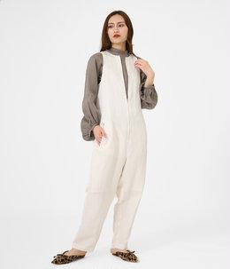 【予約】acetate linen cloth  salopetto pants