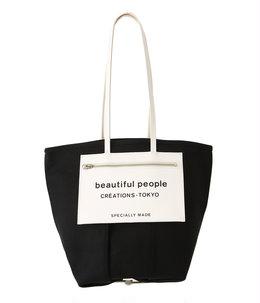 【レディース】lining logo pocket tote bag