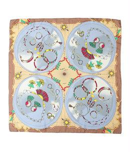 【レディース】<Silk scarf(88cm×88cm)>-accessory-