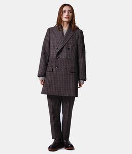 【レディース】gradation blockcheck tailored jacket
