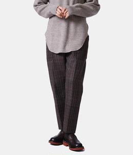【レディース】gradation blockcheck stick pants