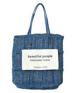 【予約】【レディース】abaca knitting name tote