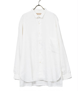 【予約】White Linen Gardeners Shirt Mid