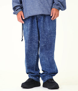 DENIM CRACK PANTS