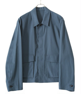 COTTON GABARDINE / FLY FRONT BLOUSON