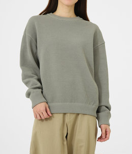 【レディース】Moss stitch L/S sweat