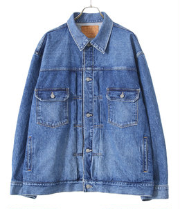 14oz. DENIM JACKET AGED MODEL
