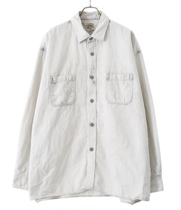 【予約】COTTON / LINEN DENIM BIG WORK SHIRT AGED MODEL