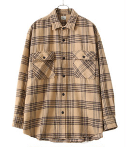 SOFT NEL CHECK BIG POCKET WORK SHIRT