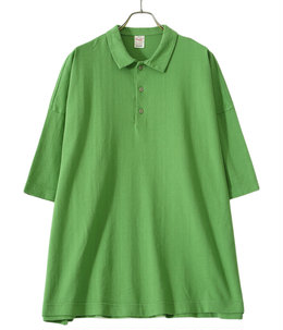 【予約】SUVIN COTTON OVER SIZE POLO TEE
