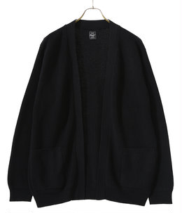 COTTON / SILK KNIT NO COLLAR CARDIGAN
