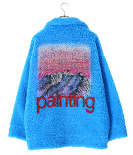 HAND-PAINTED RECYCLE FUR JACKET