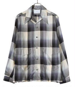 【予約】OMBRE OPEN-COLLER SHIRT