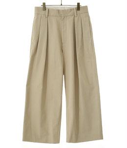 COTTON CHINO - 2 TUCK PANTS