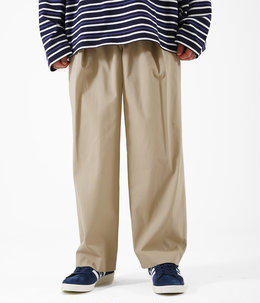 COTTON GABARDINE / 1 TUCK PANTS