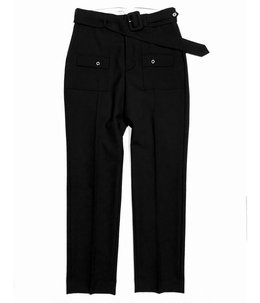 Bush Detail Wool Slacks with Velt