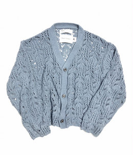 Flower Pattern Hand Knitting Cardigan