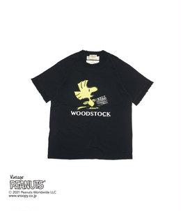 """""""WOODSTOCK"""" Silk Trim Tee"""