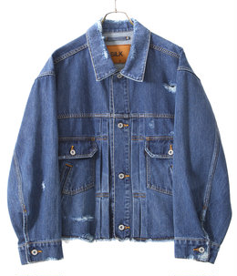 DAMAGED SILK DENIM JACKET