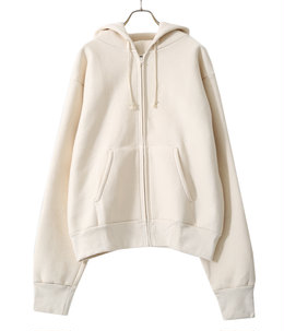 CROSS KNIT ZIPPER HOODED