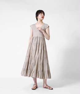 【レディース】草原の虹のドレス(ショートスリーブ)