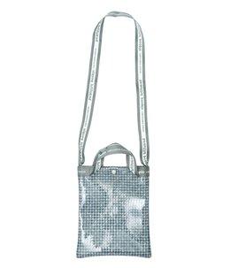 【予約】plaid vinyl logo tape sacoshe bag