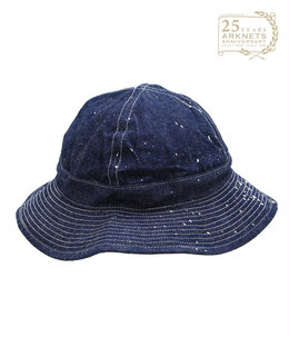 【ONLY ARK】別注 UNISEX US NAVY HAT DENIM+PAINT