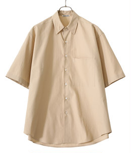 WASHED FINX TWILL BIG HALF SLEEVED SHIRTS