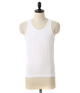 Superfine Cotton Vest-ホワイト-