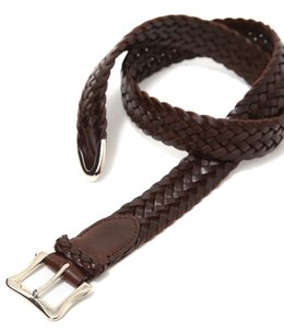 ENVELOPE BUCKLE TIP END PLAITED BELT 32 MM