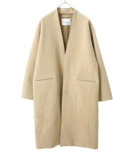 TASMANIA WOOL NO COLLAR COAT