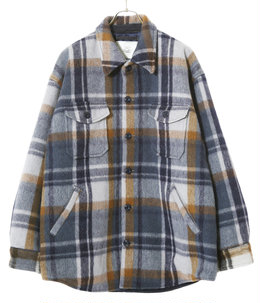 WOOL SHAGGY CHECK C.P.O JACKET