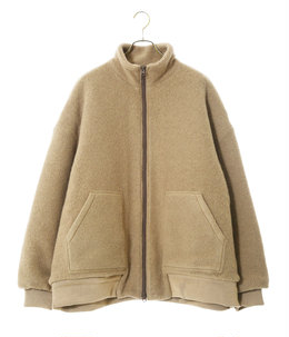 BOUCLE WOOL KNIT ZIP JACKET