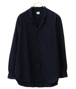 LINEN BROAD STRIPE ATELIER SHIRT