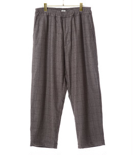 WOOL GLENCHECK WIDE EASY PANTS