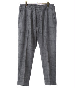 WOOL GLENCHECK SLIM EASY PANTS