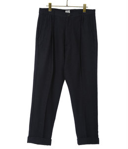 WOOL HERRINGBONE SLIM 2TUCK PANTS