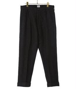 WOOL HERRINGBONE SLIM 2TUCK PANTS
