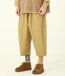 COTTON RIPSTOP WIDE POCKET BALLOON PANTS