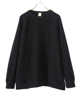 BOUCLE WOOL KNIT RAGLAN CREW NECK