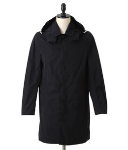 SHORT SINGLE BREASTED COAT WITH DET HOOD