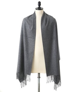 CASHMERE STOLES(190×70) -Mid Gray-
