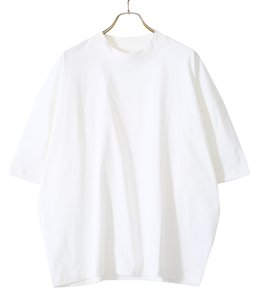 PIU LW COMPACT COTTON SHORT SLEEVE MOCK NECK T-SHIRT
